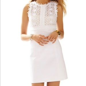 Lily Pulitzer breakers lace top shift dress